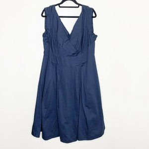 Emily and Fin Florence Dress Navy Aline Pockets 1X